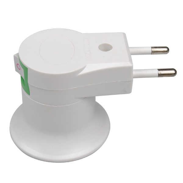 E27 Base Socket Lamp Bulb Socket Adapter Convert EU Plug With Power On-off Control Switch