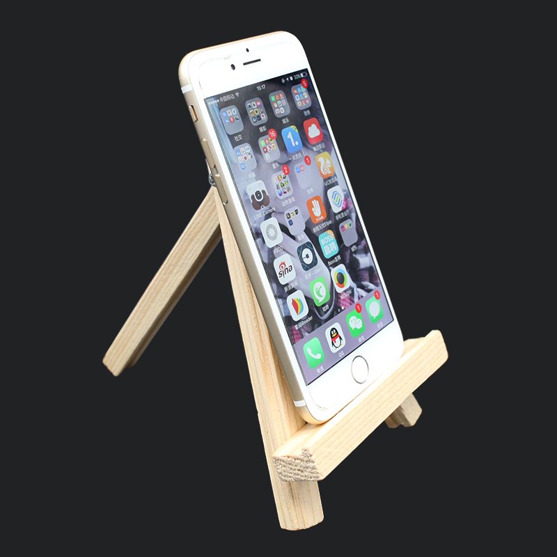 Mini Small Log Display Shop Wooden Mobile Phone Stand