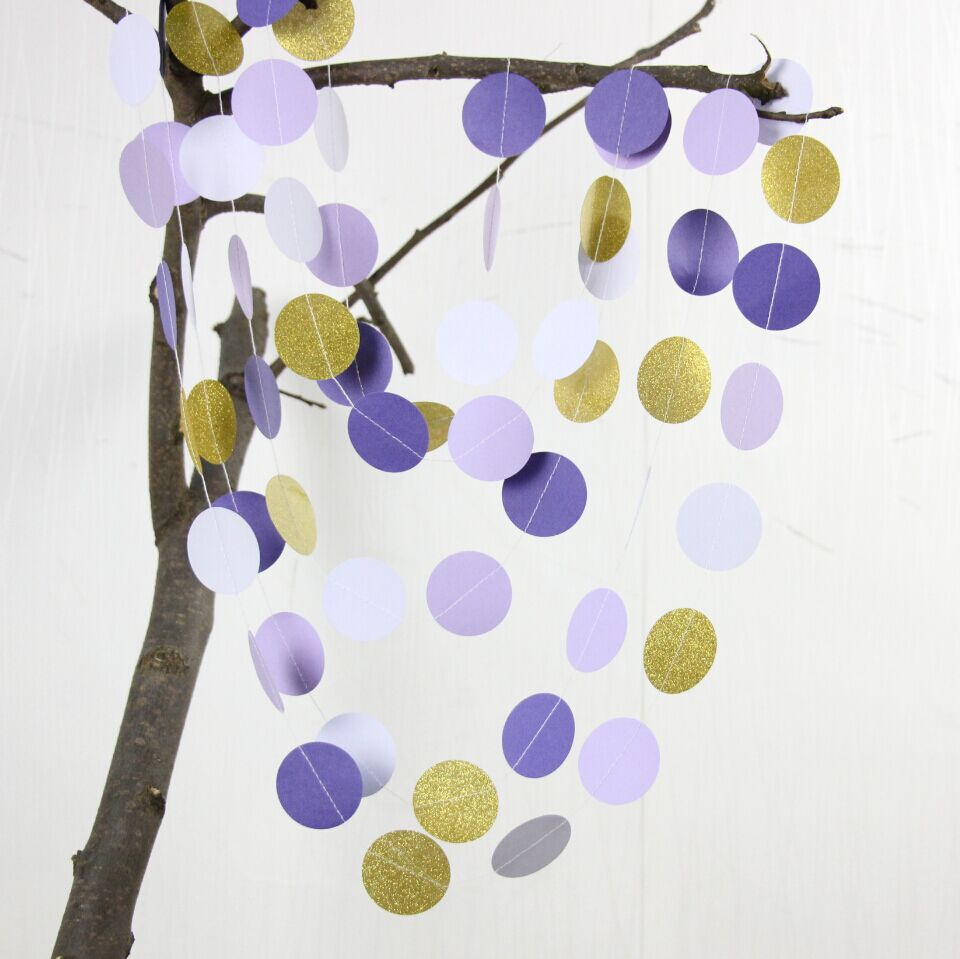 2pcs Wedding decorations, Bridal shower decor, Purple and Gold ...