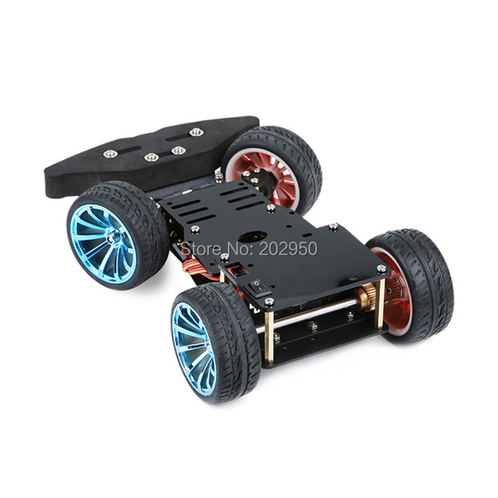 Set wd rc smart car chassis with mg r metal gear servo