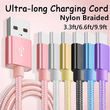 1M/2M/3M Meter Ultra Long Tangle-Free Nylon Braided 8 pin Charger USB Cable Charging Cord Charger for iPhone X 5 6 6s 7 8 plus(China)