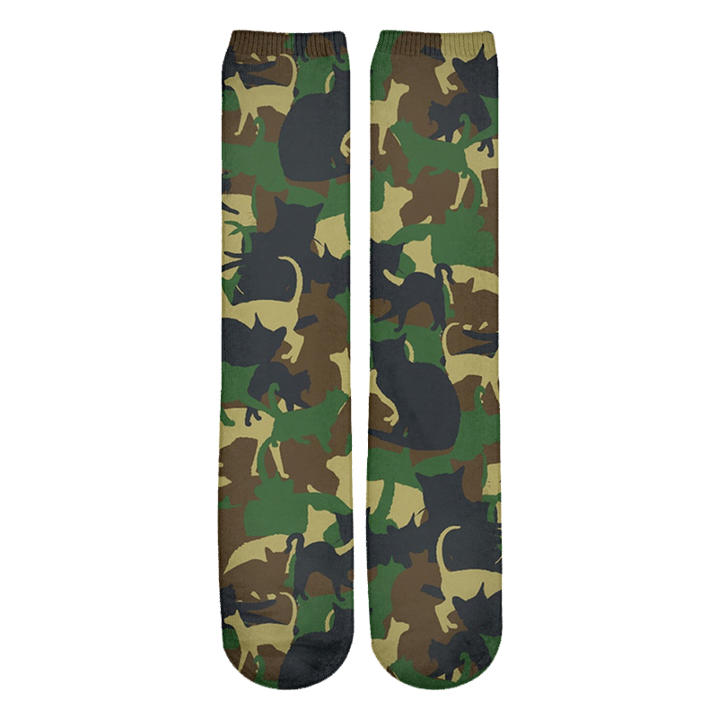 Cat Themed Unisex Plus Size Military Camouflage T-shirt Pants Hoodies Shorts
