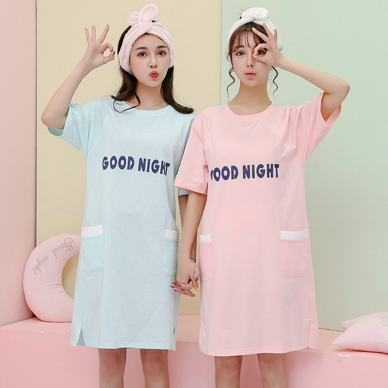 Top Sale Summer Style Cotton Indoor Clothing Women Pyjamas Women Casual   Nightgowns   &   Sleepshirts   Of Home Clothing For Sleep