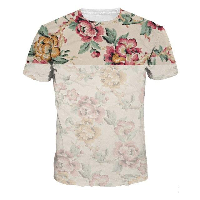 ea3a7f78662d 2018 Summer Mens Casual 3d T Shirt Flower Print Famous Clothing Man's Short  Sleeve Slim T-Shirts Male Wear Tops Tees