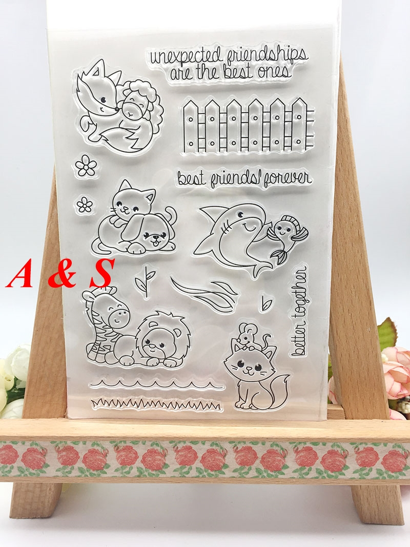 ShapeW Clear Stamps for Card Making,Clear Stamps Cutting Dies Transparent Stamps for Scrapbooking DIY Embossing Folder Template Crafts Card Album Creative Gift