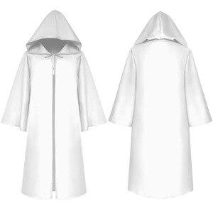 Image 4 - Halloween Tod wizard Mantel Cosplay Kostüm Mönch Robe Mit Kapuze Mantel Cape Verschiffen weinlese bruder männer Medieval Renaissance Priest kinder erwachsene