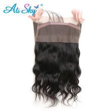 Alisky Hair Peruvian Body Wave 360 Lace Frontal with Baby Hair 10 20 100 Human Hair