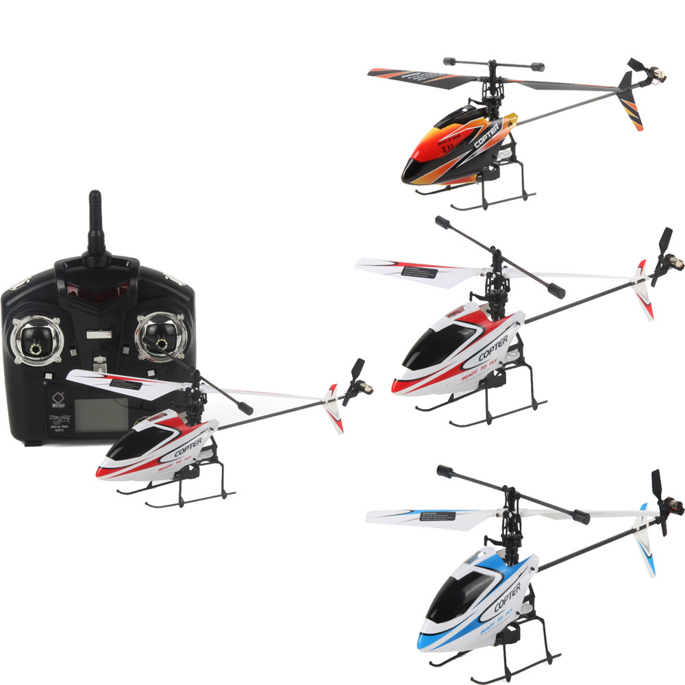 RC Dron Toys V911 RC Helicopter Drone Radio 4CH 2.4G Single Blade Propeller Gyro RTF High Qaulity Dorp Shipping #0424