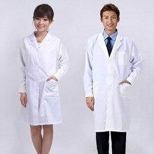 Новое медицинское белое пальто одежда терапевтические услуги униформа медсестры одежда с длинным рукавом полиэстер Защитная ткань