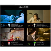 Sonoff B1 Wifi Led Bulb E27 Dimmer Smart Light Bulbs Switch LED Lamp RGB Color Light