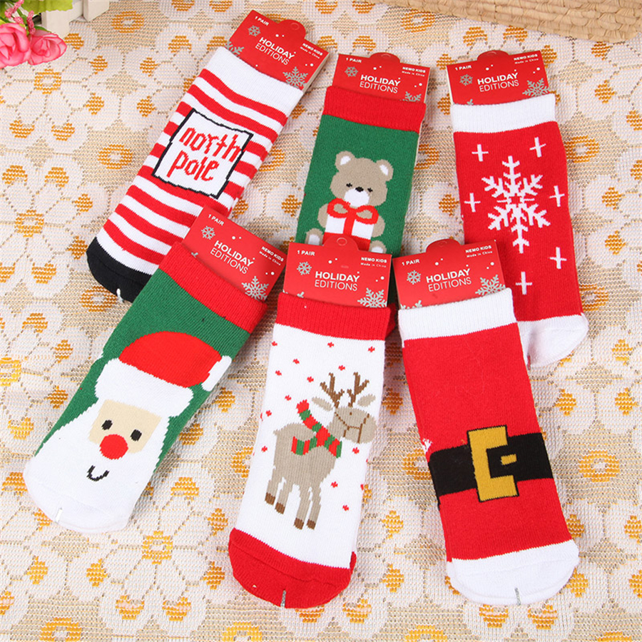 Cotton Christmas Socks Kids Girl New Year Children\'s Socks Warm Baby ...