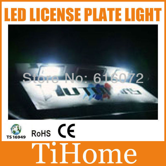 HOT!!! Free Shipping to RUSSIA Original VW GOLF6 GTI/Passat B6/NEW BEETLE/POLO LED LICENSE PLATE LIGHTS ,VW CAR LIGHT