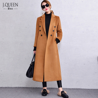 Brand Fashion Winter Wool Long Coat Women Polyester 2016 New Women S Slim Coats Warm Woolen
