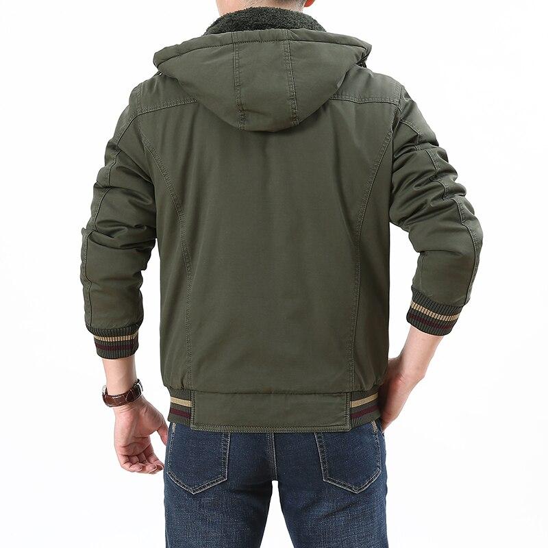 Marca TIEPUS talla grande L 5XL, 6XL, 7XL, chaqueta de invierno 8XL a la moda para hombre abrigo militar con capucha chaqueta cortavientos para hombre-in Parkas from Ropa de hombre    2