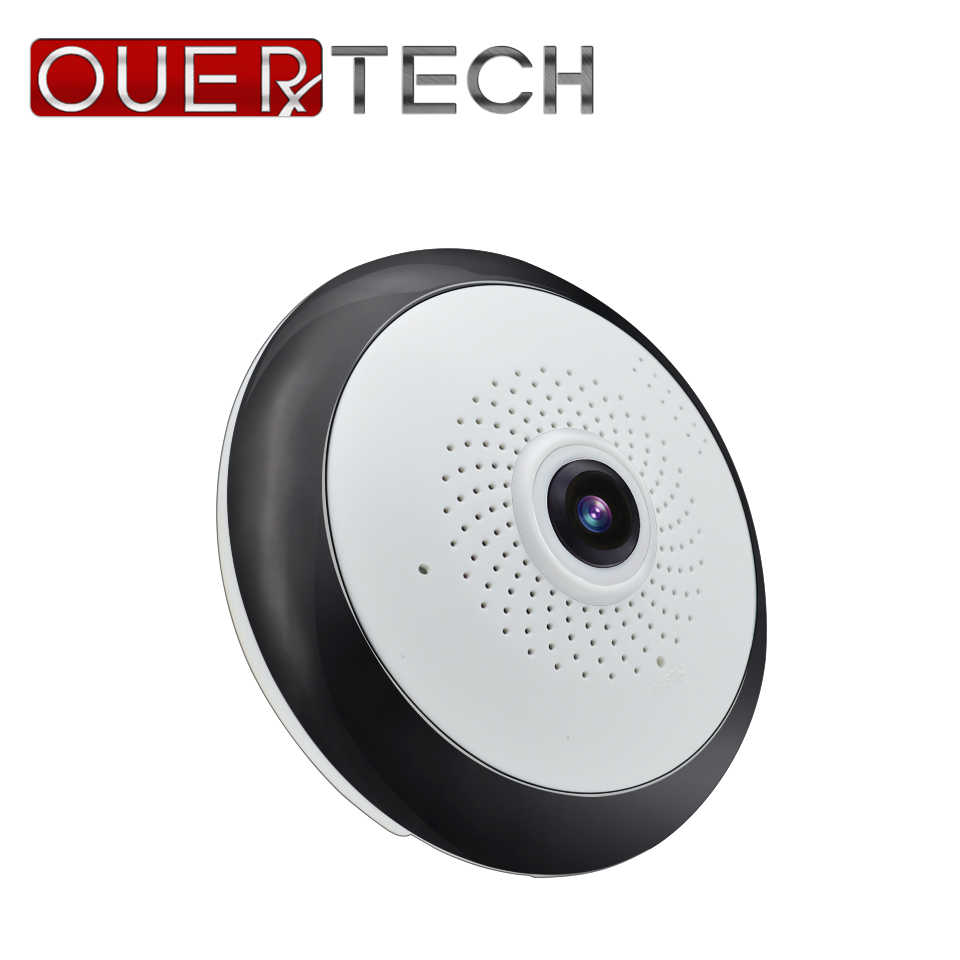 OUERTECH Full view WIFI  360 Degree Two way audio Panoramic  1.3MP Fisheye Wireless Smart IP Camera  support 128g app ICSEE