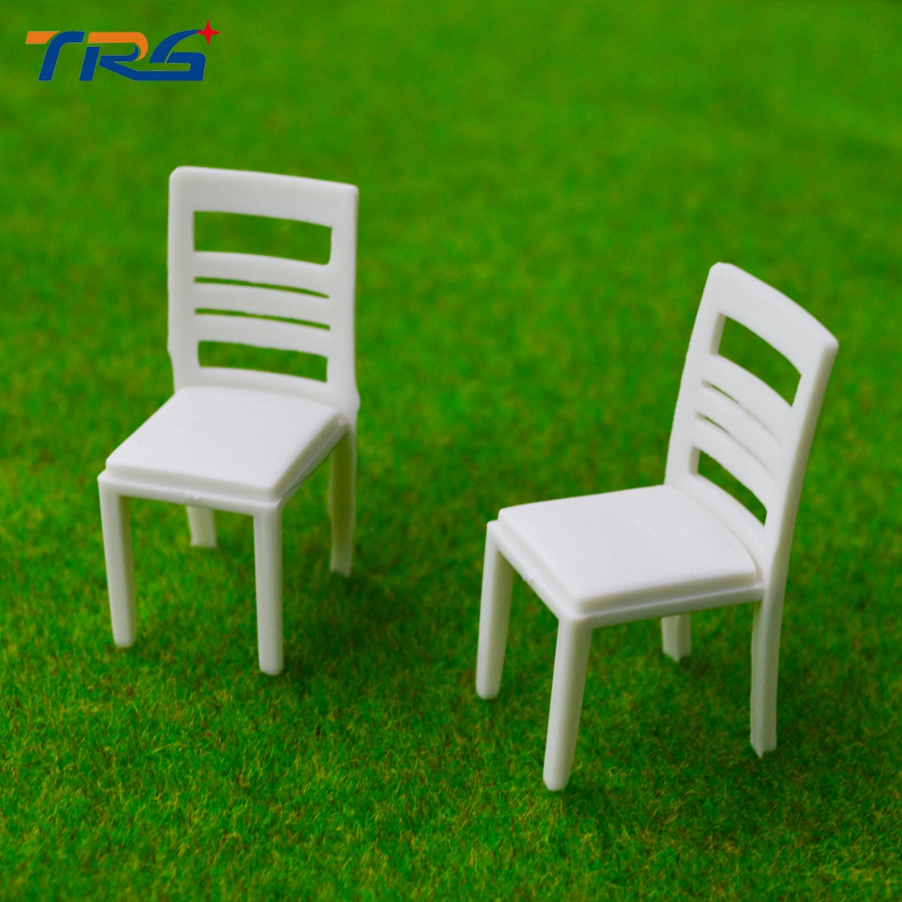 1:25 scale Architectural scale model furniture ABS plastic model chair for model train layout scenery