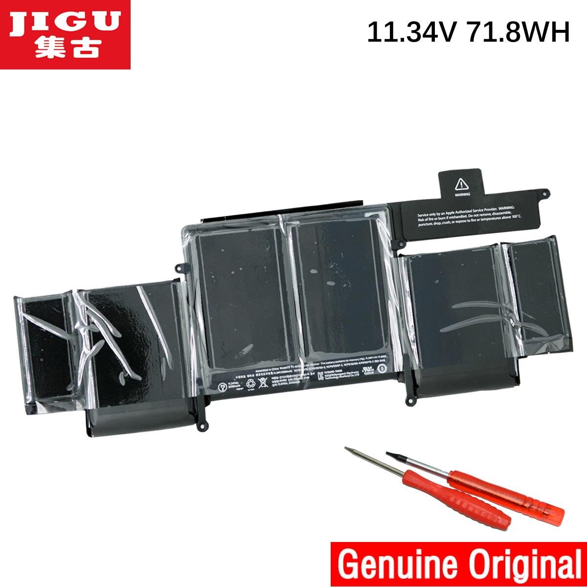 JIGU A1493 Original Laptop Battery For APPLE Macbook Pro Retina 13 A1502 2013 ME864 ME865 11.34V 71.8WHJIGU A1493 Original Laptop Battery For APPLE Macbook Pro Retina 13 A1502 2013 ME864 ME865 11.34V 71.8WH