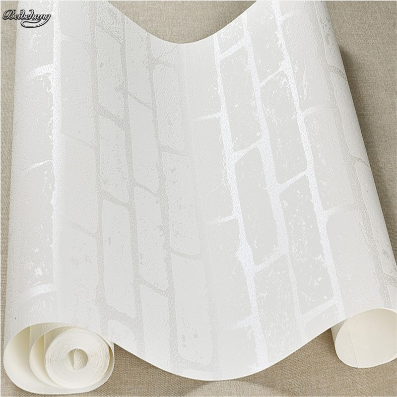 beibehang non-woven 3D concave and convex three-dimensional pure white brick wallpaper relief brick clothing store shopping mall beibehang european luxury fine imitation embroidery non woven garden garden flowers 3d three dimensional relief wallpaper