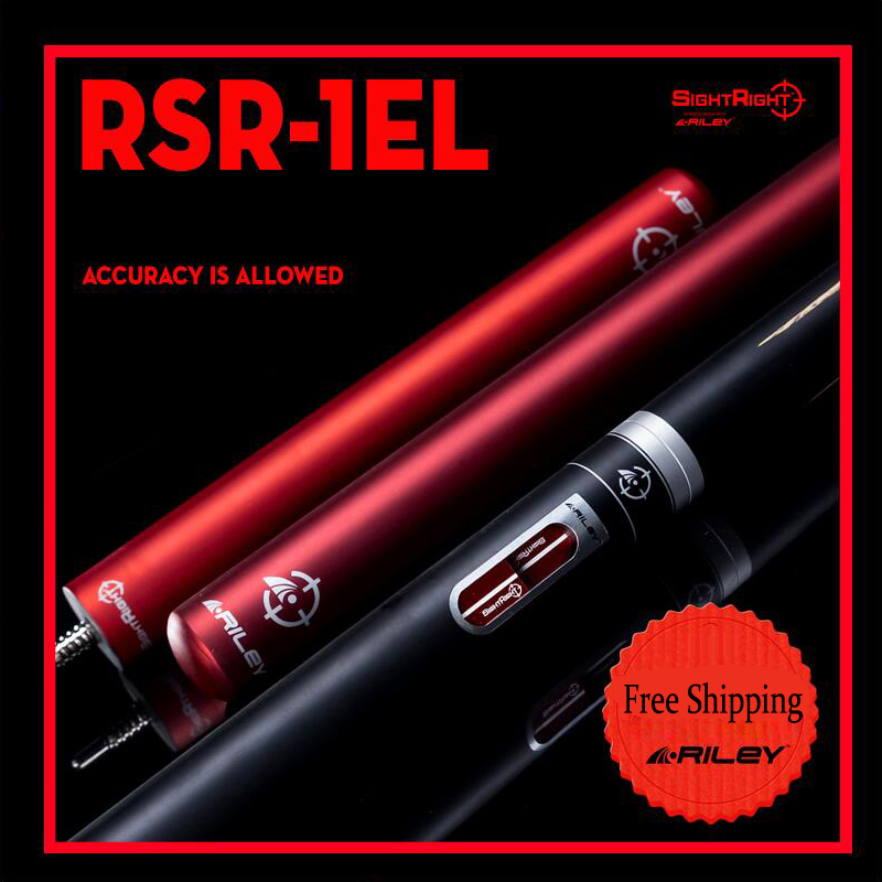 RILEY RSR 1EL Snooker Cue 9.5mm Deer Tip Professional Ashwood Shaft African Rosewood Butt High end Billiards with 2 Extensions