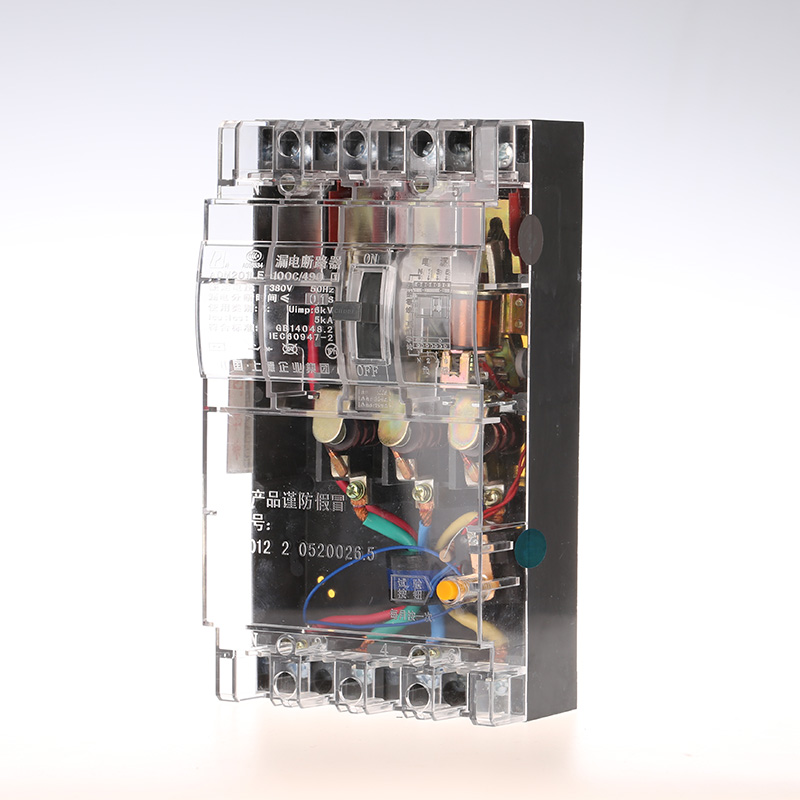Leakage circuit protector air switch residual-current circuit breaker DZ15LE-100/490 100A transparent shell three phase four wire 4p earth leakage circuit breaker dz20le 250 4300 100a