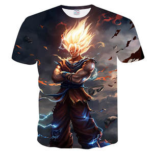 T-Shirts Dragon-Ball-Z 3d-Printing Black Super-Saiyan Casual Tee Tops Zamasu Vegeta Son-Goku