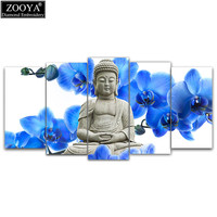 Zhui Star 5d Diy Diamond Embroidery Orchid Buddha 5pcs Multi Picture Combination Diamond Painting Cross Stitch