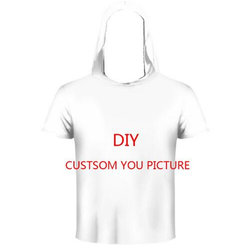 LIASOSO 3D Print DIY Custom Design Men/Women Hooded T-shirt summer Casual t shirt Wholesalers Suppliers For Drop Shipping Y160