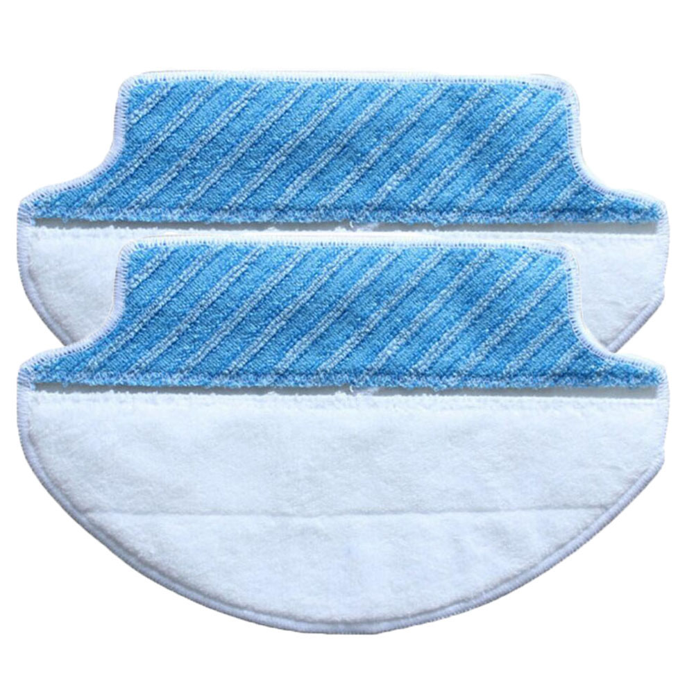 2-pack Wet & Dry Microfiber Mop Pad Mopping Cloth For Ecovacs Deebot DT85 DT83 eDM81 1pcs euro pro shark steam mop replacement microfiber pads s3250 3250 s3202 3202 s3101 3101