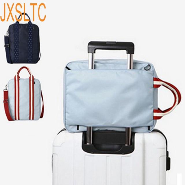 2572725527 JXSLTC Nylon WaterProof Duffel Bag Men Travel Bags Foldable Suitcase Big  Capacity Weekend Traveling Bag Female