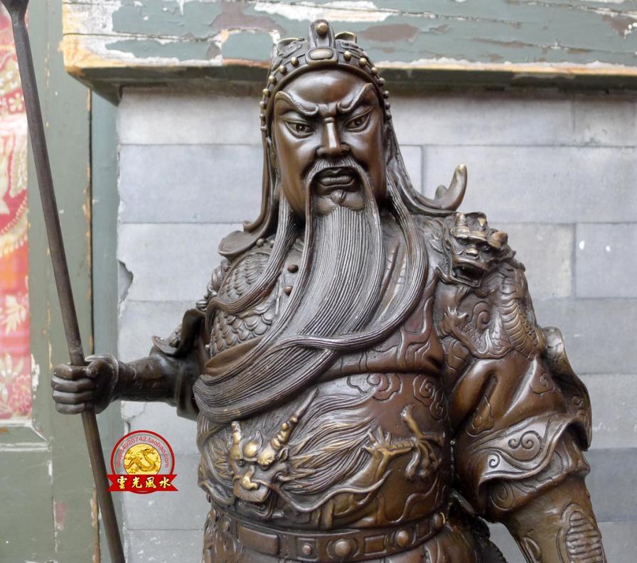A large copper copper vertical font b knife b font like Kowloon Guan Wu Sheng Guan