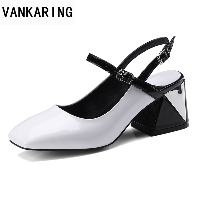 VANKARING women high qulaity summer gladiator sandals high heels square toe shoes woman dress party casual shoes bigs zie 34-42 phyanic 2017 gladiator sandals gold silver shoes woman summer platform wedges glitters creepers casual women shoes phy3323