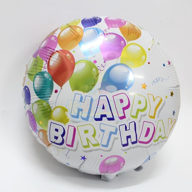 Newest model 18inch circle birthday balloon 10pcs/lot aluminum ballon birthdaypa