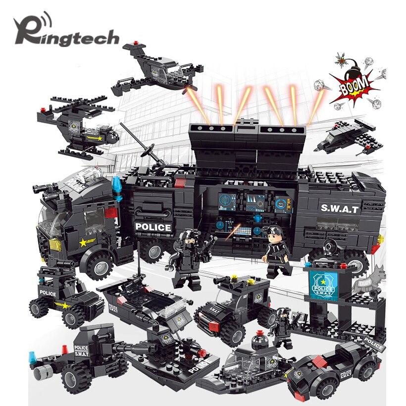Ringtech LELE BROTHER bloques de construcción 618 piezas ciudad Policía  Serie SWAT 8 en 1 ciudad policía Estación de camión pequeño ladrillos de  juguete en ... 9e14145d84f