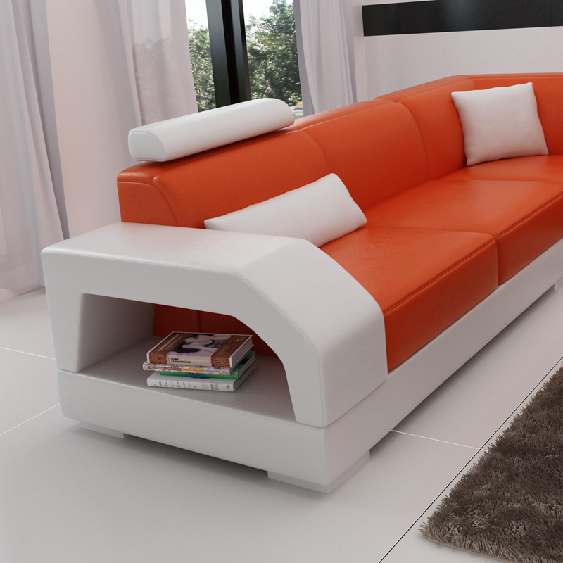 Furniture From Home Goods: Home Goods Furniture White And Black Leather Luxury Sofa