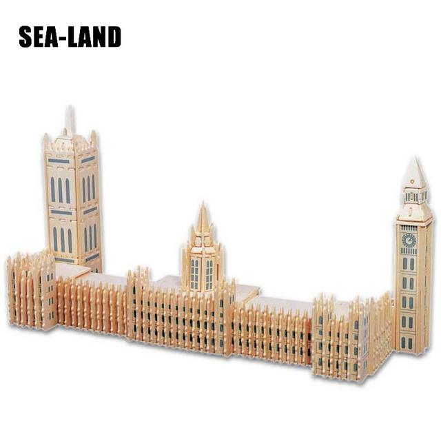 Un Enfants Jouet De 3D En Bois puzzle pour enfant Palais de Westminster Un Meilleur Montessori Éducatifs bricolage Jouet Comme Cadeau de Passe-Temps Pour famille
