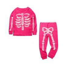 Baby Boys Girls Luminous Skeleton Pajamas Sets