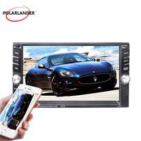 HD Bluetooth With Rear Camera 6.6 inch Mirror For Android Phone Car Radio 2Din Car Radio MP5 Player Mirror Link Screen