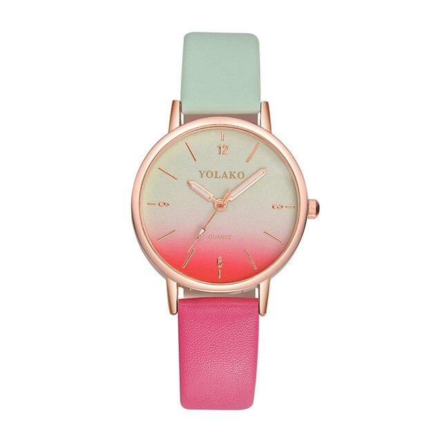 YOLAKO Brand Women's Watches Fashion Leather Wrist Watch Women Watches Ladies Wa