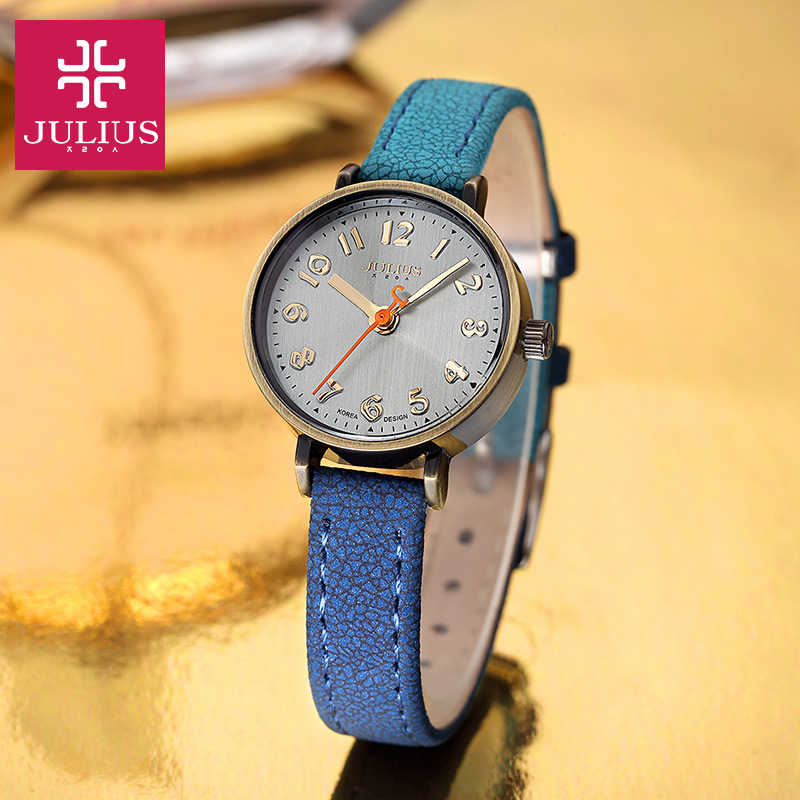Top Julius Lady Women's Watch Retro Simple Fashion Hours Gradient Dress Bracelet Leather School Girl Birthday Gift Box 855