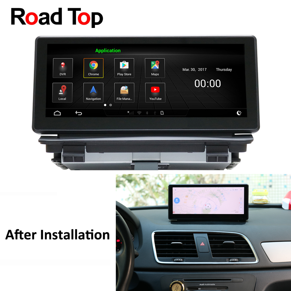 Android 5.1 Car Bluetooth Radio GPS Navigation player Vehicle WiFi Head Unit Display Screen Monitor for Audi Q3 2013 2018 8.8