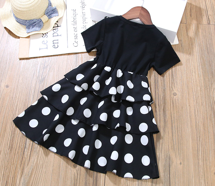 Girls Layered Dresses for Party and Wedding Kids Princess Dot Dress for Toddler Girl Clothes Summer Dot Layered Dress In Kids 13