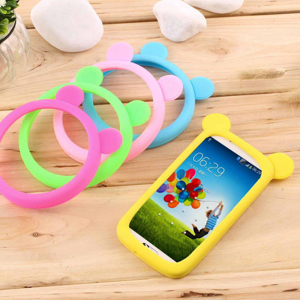Phone case Universal Silicone Cell Mobile Phone Border Protective Cover Silicone Bracelet Case For Iphone For Samsung For Sony