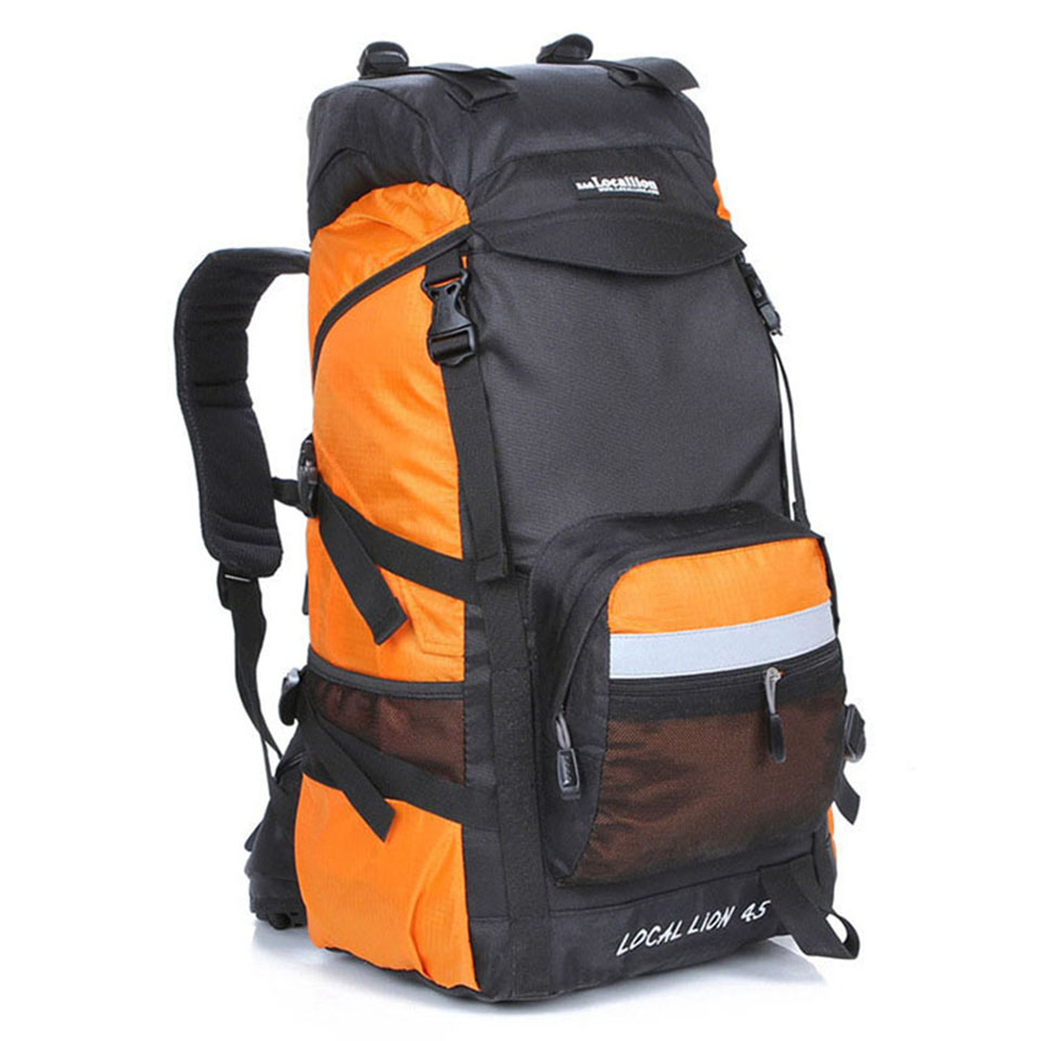 LOCAL LION Backpack 45L Water Resistant Climbing Hiking Backpack Men Women Outdoor Travel Trekking Sports Bag