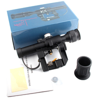 Tactical SVD Dragunov 4x26 Red Illuminated Scope for Hunting Rifle Scope Shooting HT6 0012