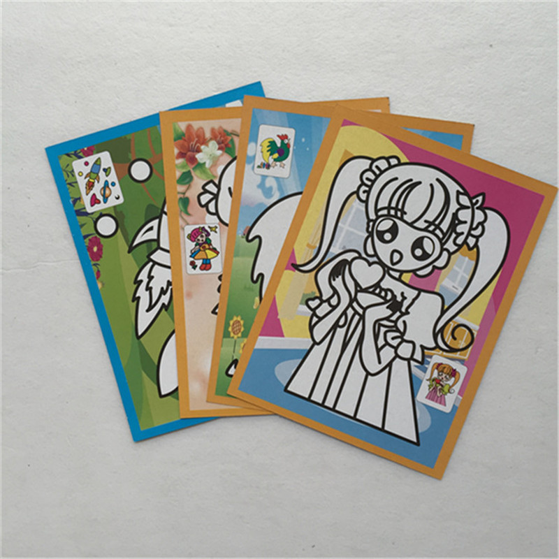 20pcs Scraping Painting Magic Color Scratch Art Paper Coloring Cards Scraping Drawing Educational Toys For Children