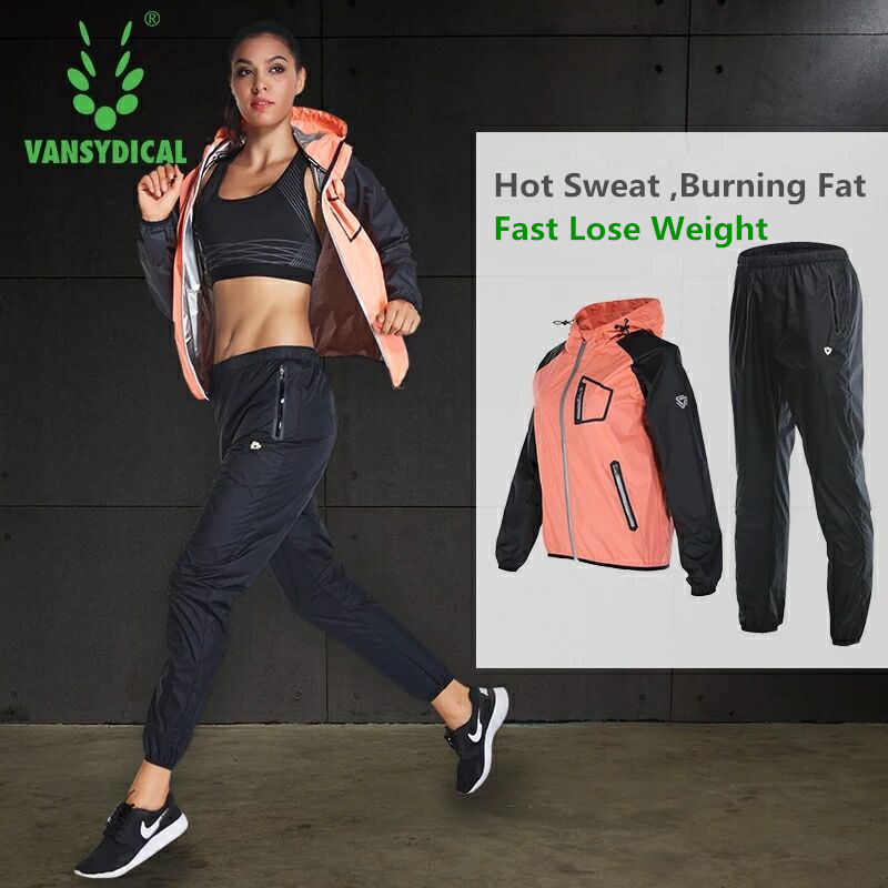 Hot Suits Sweat Sports Wear Women's Gym Clothes Running Yoga Set Fitness Workout Slimming Lose Weight Jogging Suits Sportswear
