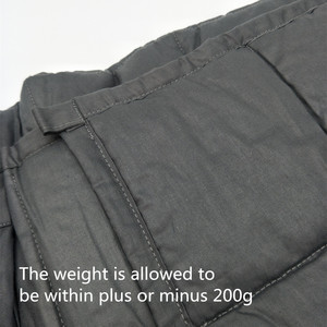 Image 5 - SunnyRain 1 Piece Cotton Weighted Blanket for Adult Decompression Gravity Blankets Sleep Aid Pressure Weighted Quilt