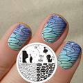 Pretty Girl Dandelion Theme Nail Art Stamping Template Image Plate BORN PRETTY BP69 Stamp Plates for Nails