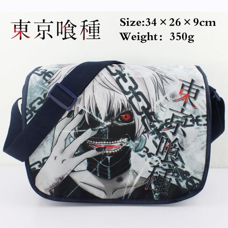 Colorful Tokyo Ghoul polyester shoulder bag printed w/ White Hair Kaneki Ken Type G