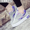 Wikileaks 2016 New Fashion Women Casual Mixed Color Breathable Light Walking Shoes Woman Solid Lace-Up Black Shoes Zapatos Mujer